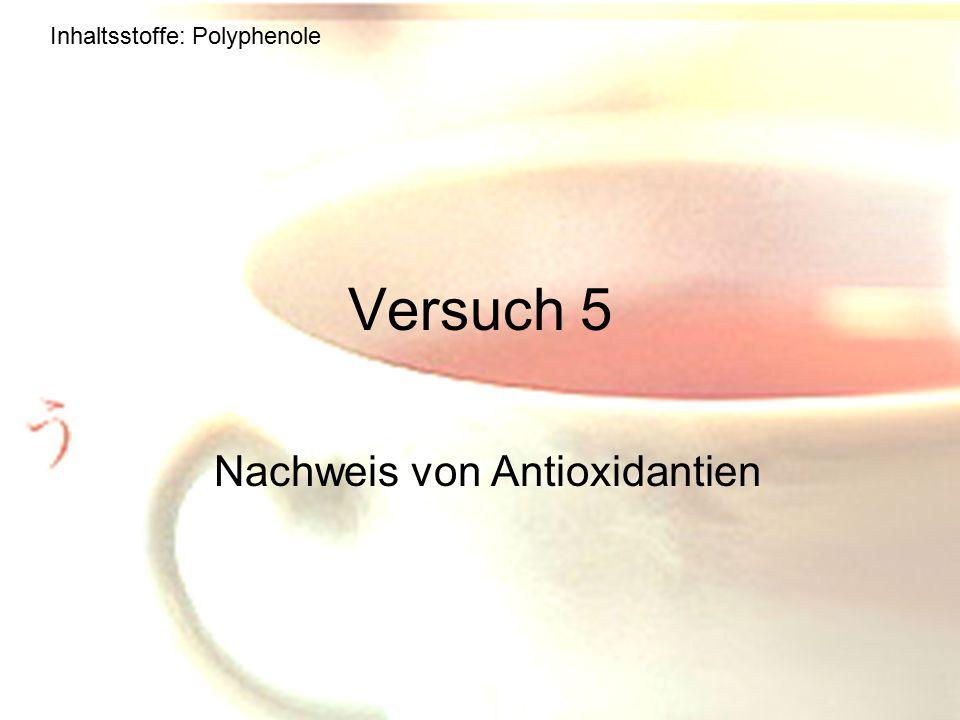 Nachweis von Antioxidantien