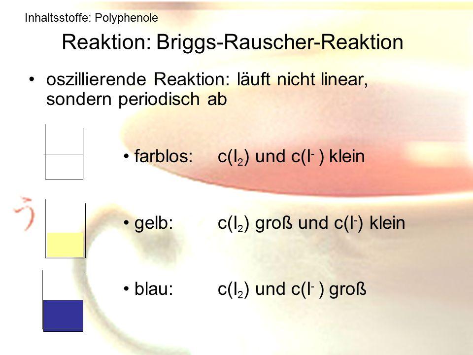 Reaktion: Briggs-Rauscher-Reaktion