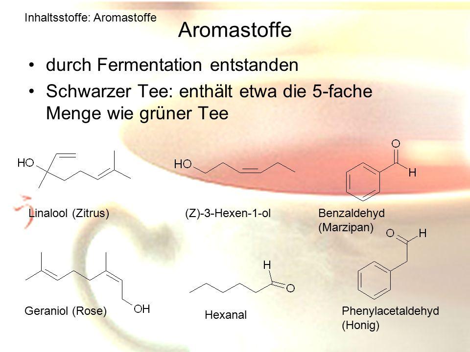 Aromastoffe durch Fermentation entstanden