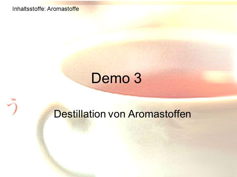 Destillation von Aromastoffen