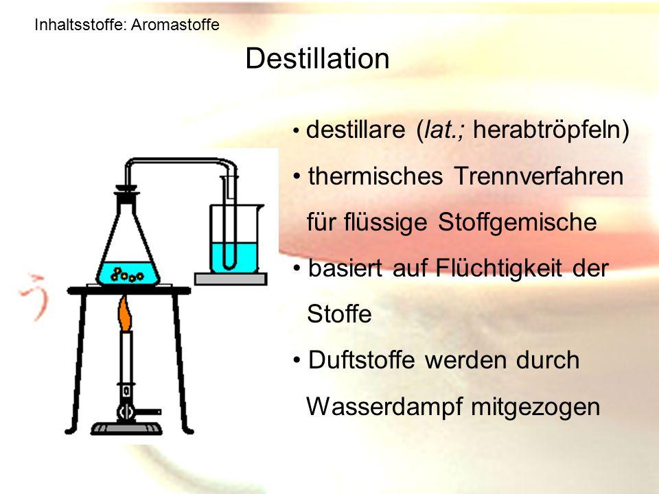 Destillation thermisches Trennverfahren für flüssige Stoffgemische