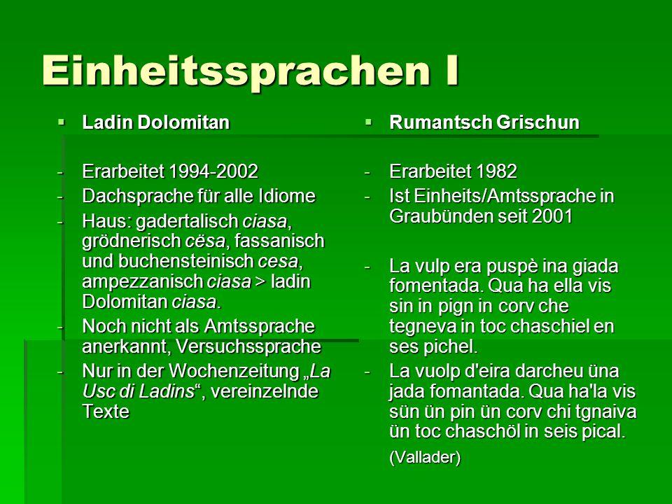 Einheitssprachen I Ladin Dolomitan Erarbeitet 1994-2002
