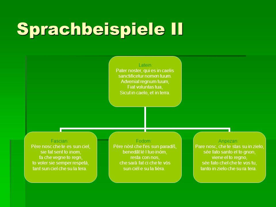 Sprachbeispiele II