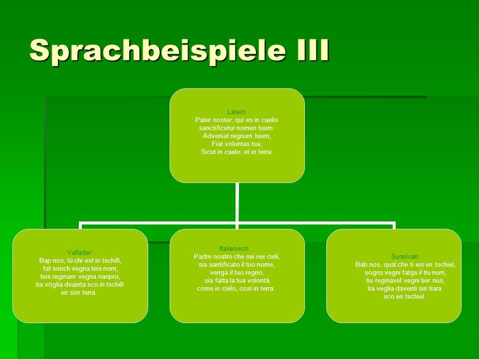 Sprachbeispiele III