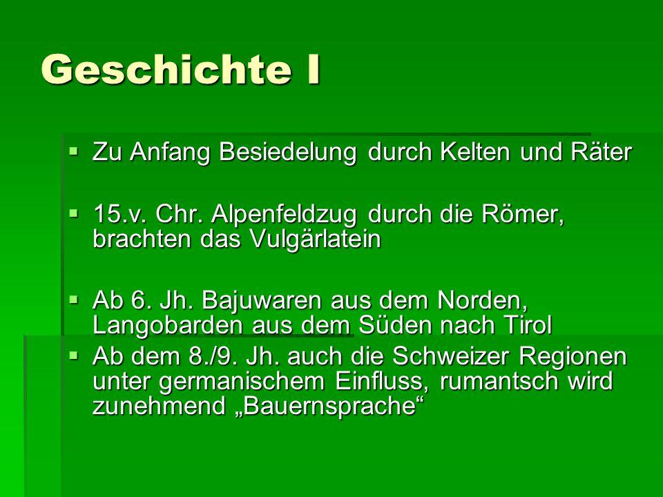 Geschichte I Zu Anfang Besiedelung durch Kelten und Räter