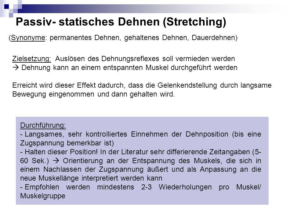Passiv- statisches Dehnen (Stretching)