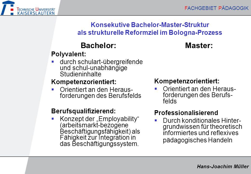 Konsekutive Bachelor-Master-Struktur als strukturelle Reformziel im Bologna-Prozess