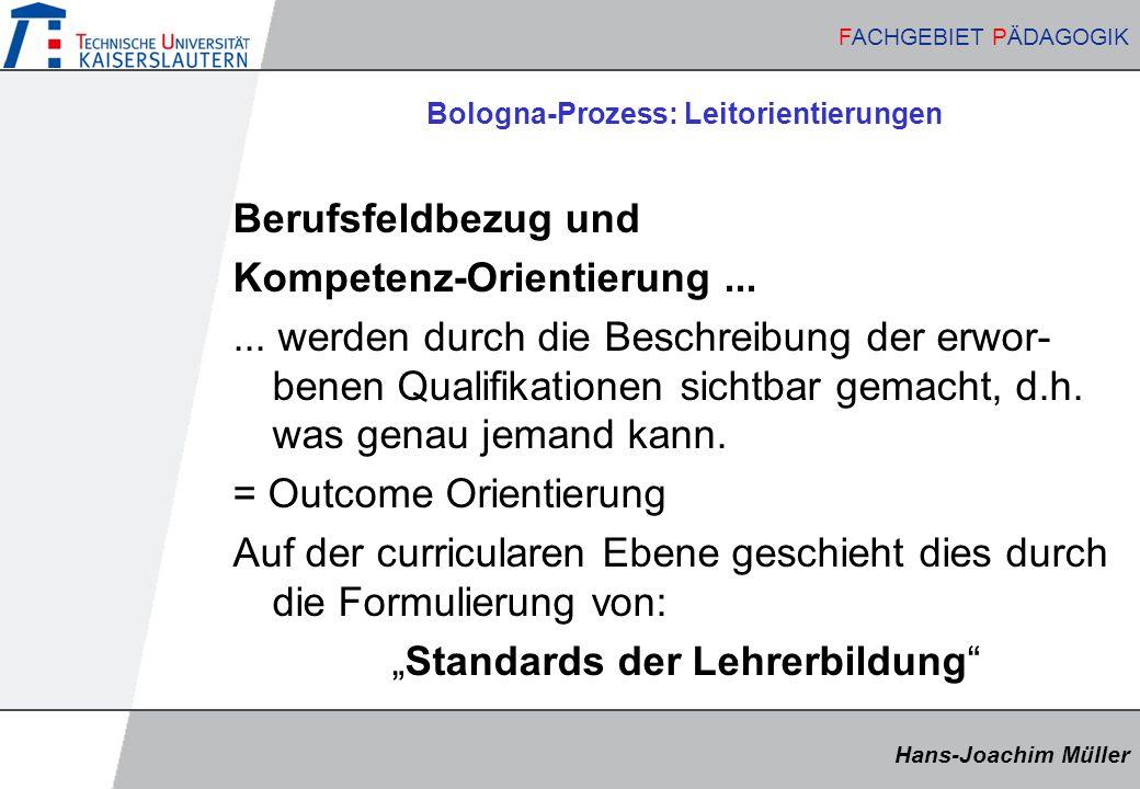 Bologna-Prozess: Leitorientierungen