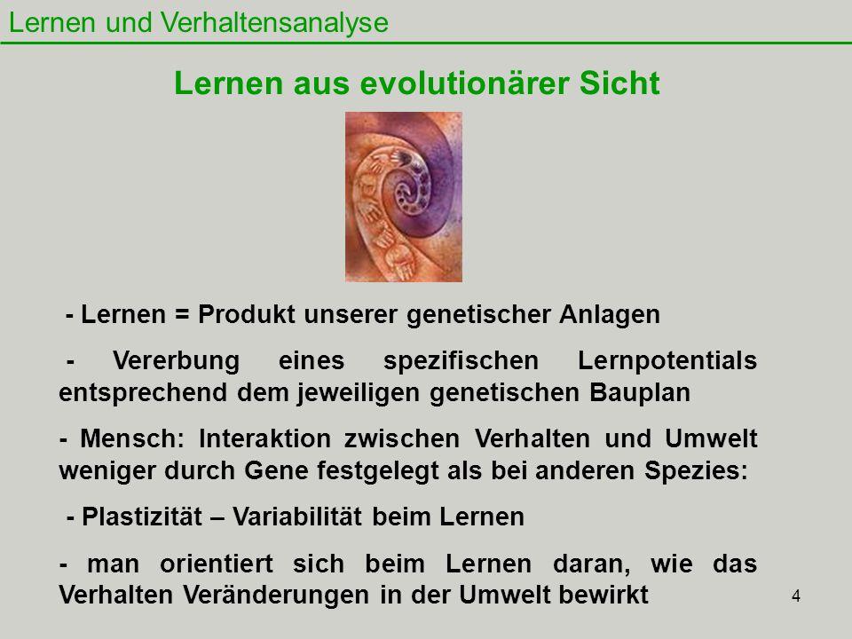 Lernen aus evolutionärer Sicht