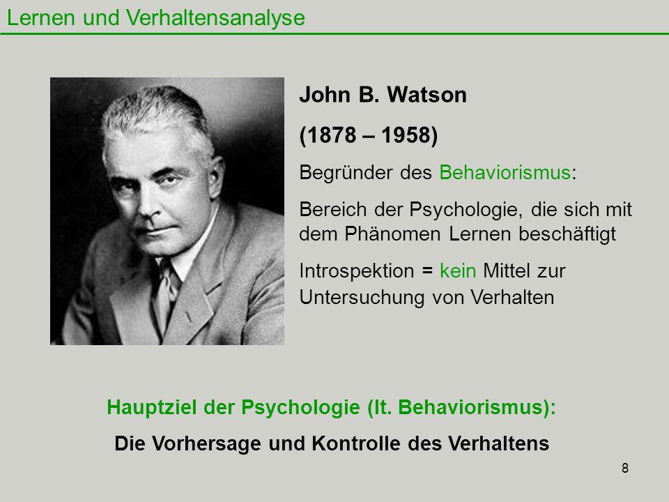 Lernen und Verhaltensanalyse