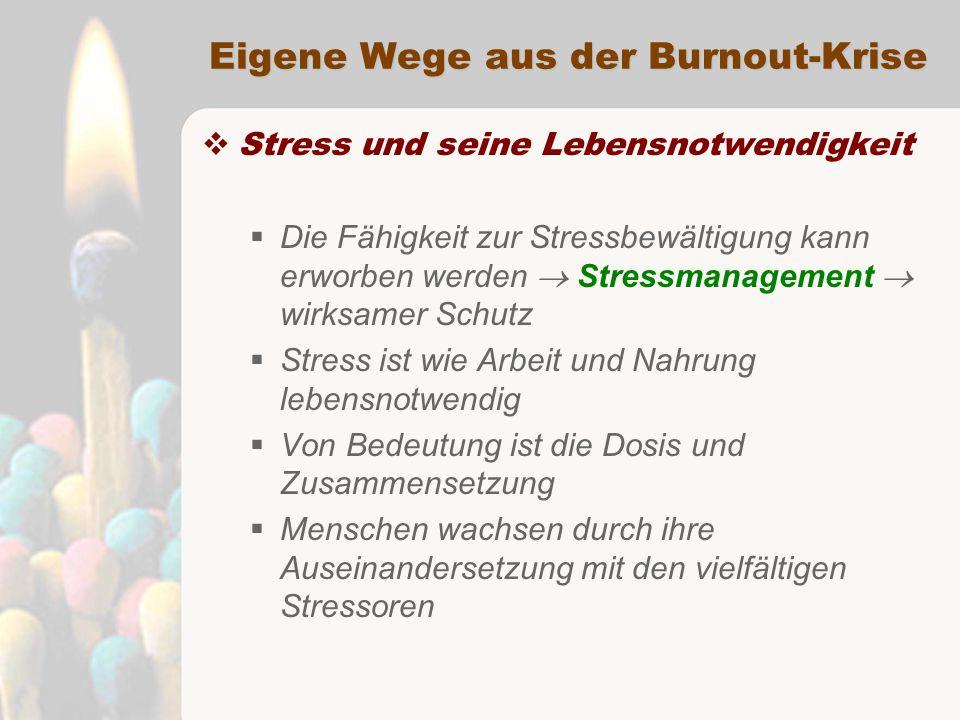 Eigene Wege aus der Burnout-Krise