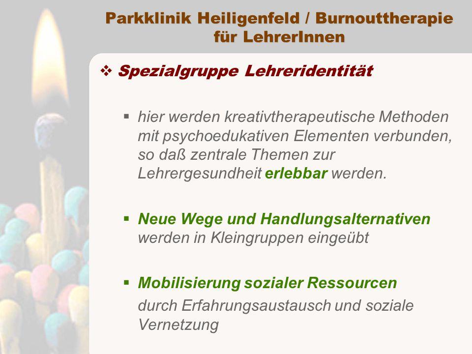 Parkklinik Heiligenfeld / Burnouttherapie für LehrerInnen