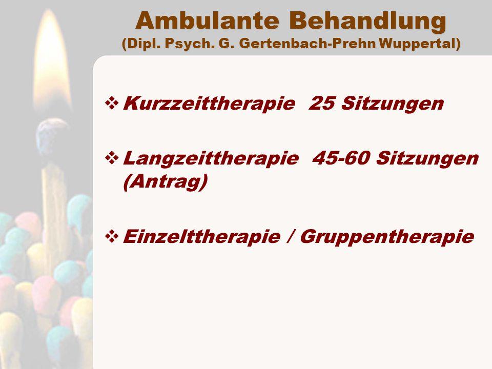 Ambulante Behandlung (Dipl. Psych. G. Gertenbach-Prehn Wuppertal)