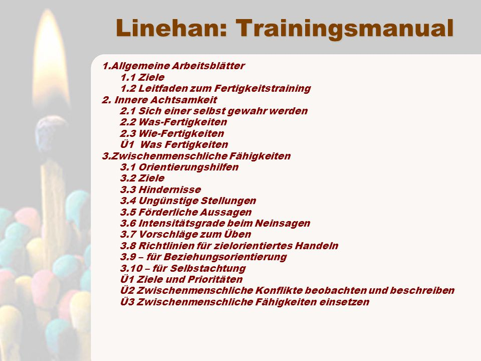 Linehan: Trainingsmanual