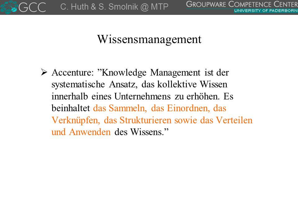 C. Huth & S. Smolnik @ MTP Wissensmanagement.