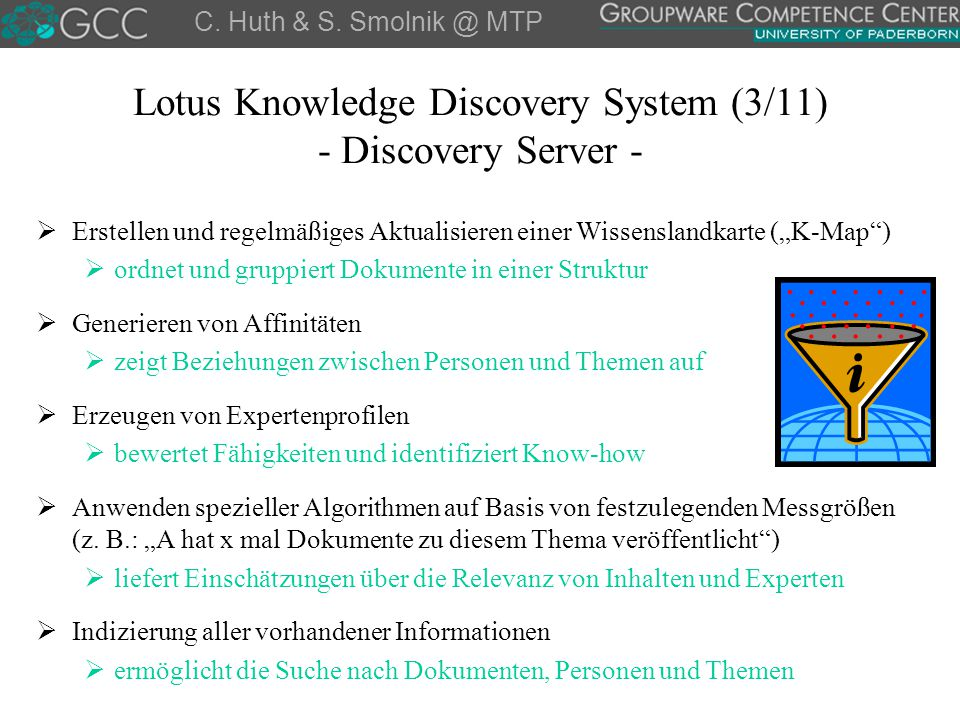 Lotus Knowledge Discovery System (3/11) - Discovery Server -