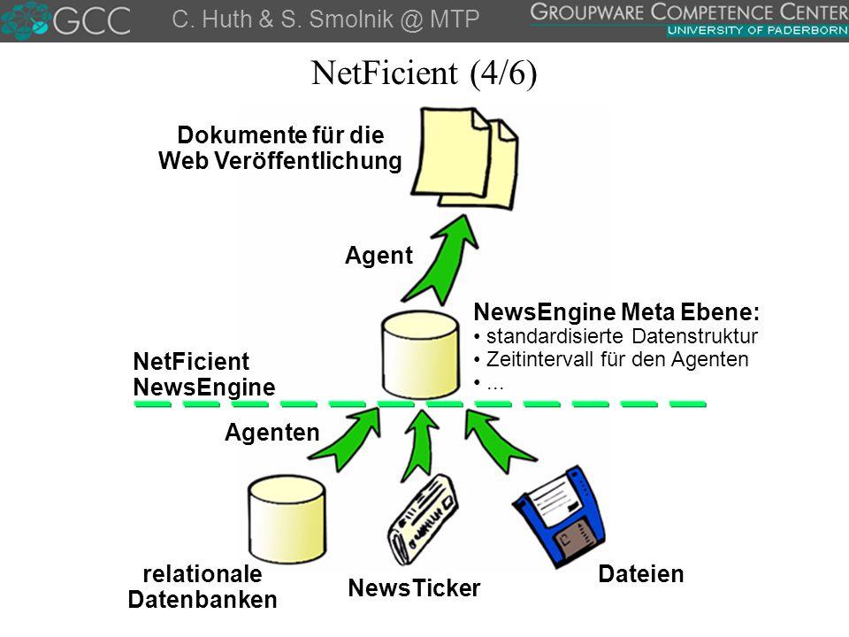 NetFicient (4/6) C. Huth & S. Smolnik @ MTP Dokumente für die