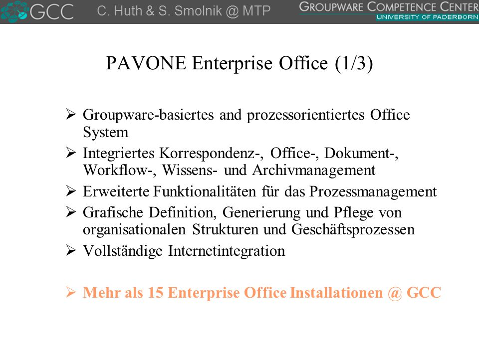 PAVONE Enterprise Office (1/3)