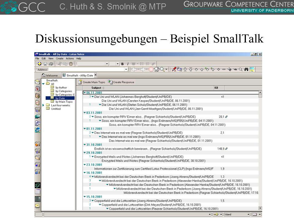 Diskussionsumgebungen – Beispiel SmallTalk