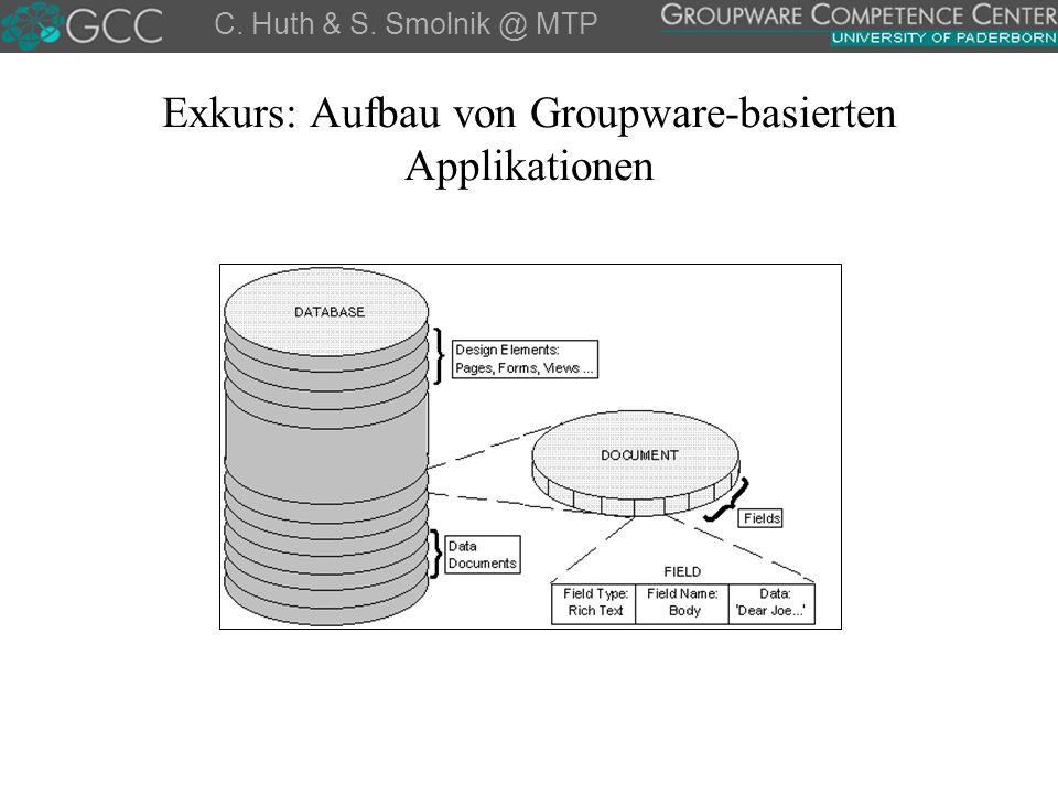 Exkurs: Aufbau von Groupware-basierten Applikationen