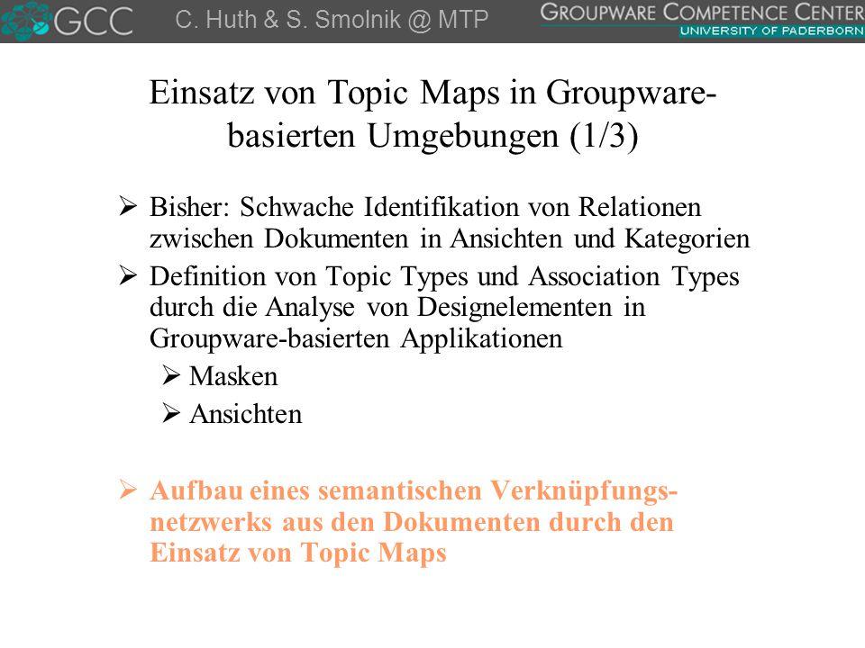 Einsatz von Topic Maps in Groupware-basierten Umgebungen (1/3)