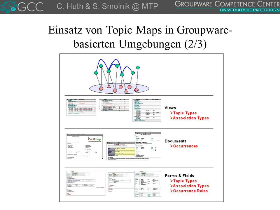 Einsatz von Topic Maps in Groupware-basierten Umgebungen (2/3)
