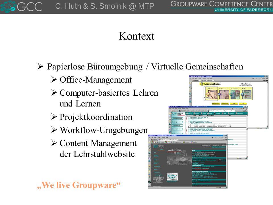 Kontext Papierlose Büroumgebung / Virtuelle Gemeinschaften