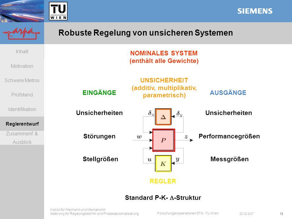 Robuste Regelung von unsicheren Systemen