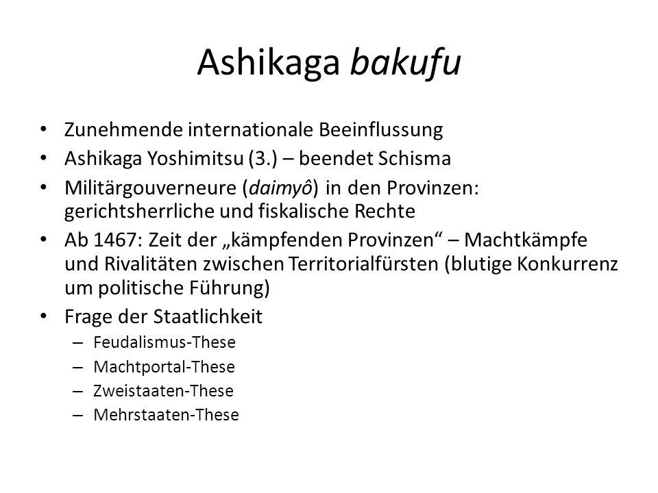 Ashikaga bakufu Zunehmende internationale Beeinflussung
