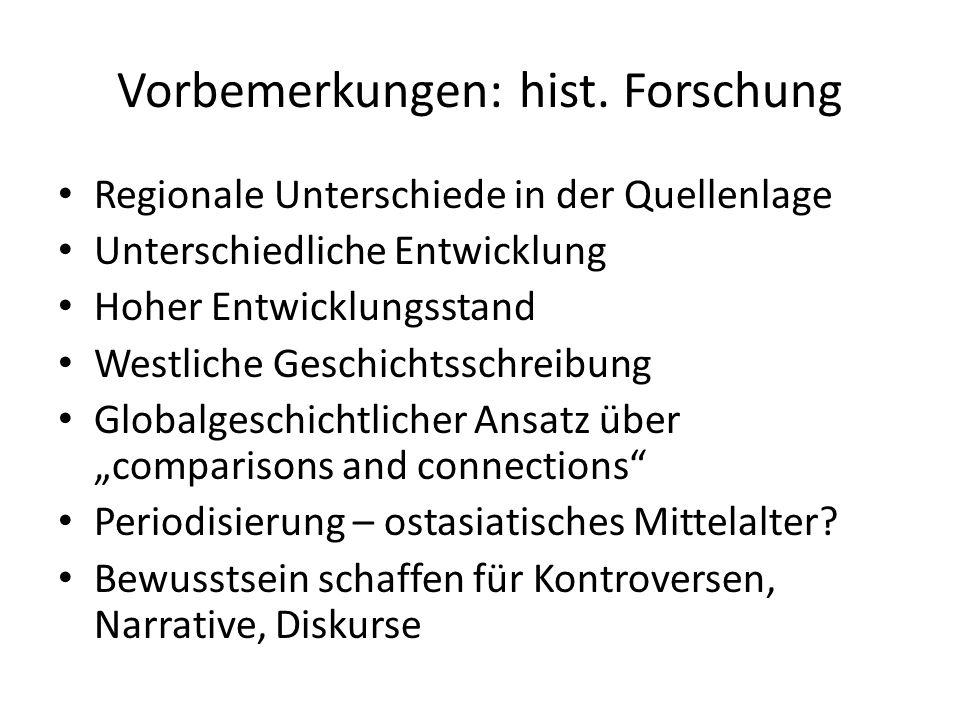 Vorbemerkungen: hist. Forschung