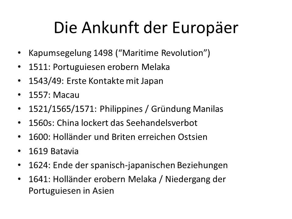 Die Ankunft der Europäer