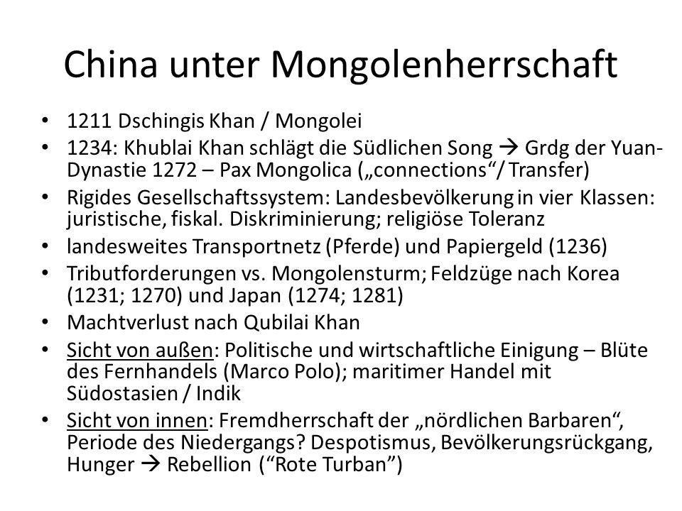 China unter Mongolenherrschaft