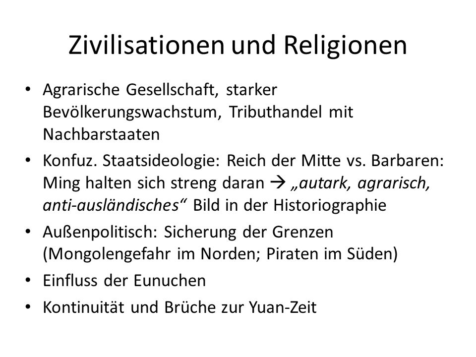 Zivilisationen und Religionen