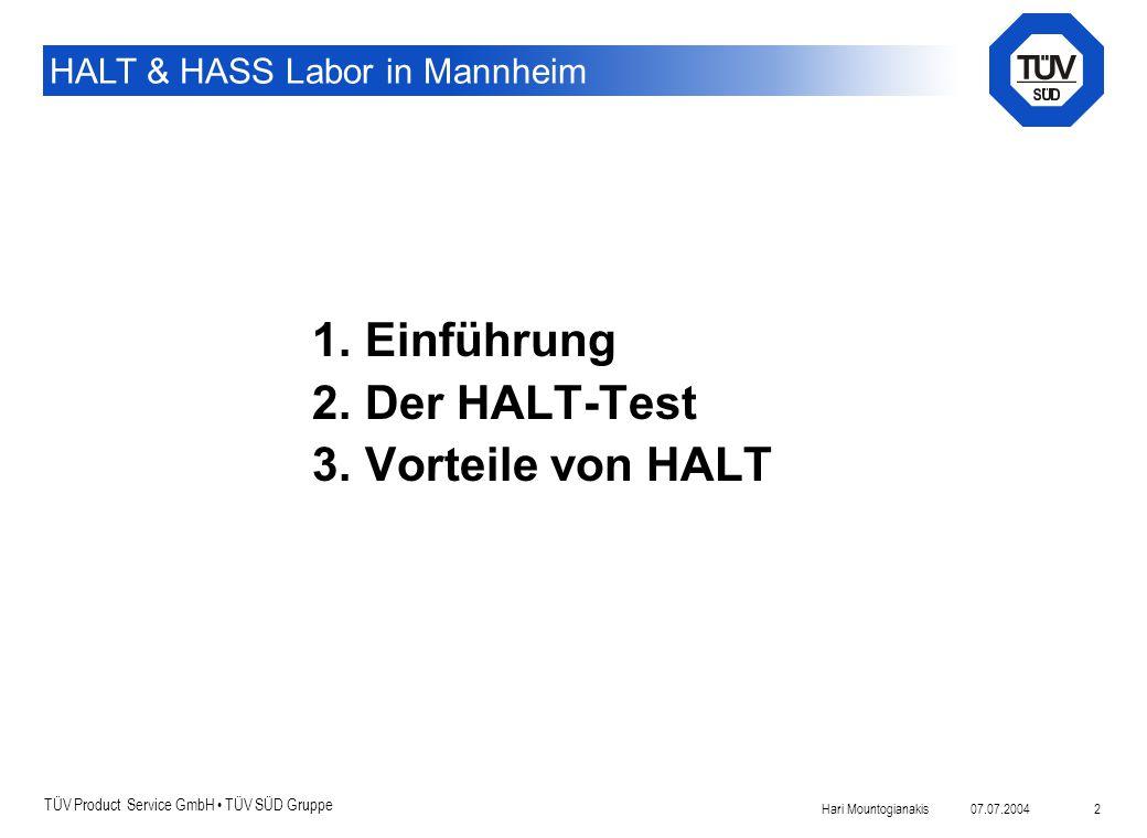 Einführung Der HALT-Test Vorteile von HALT