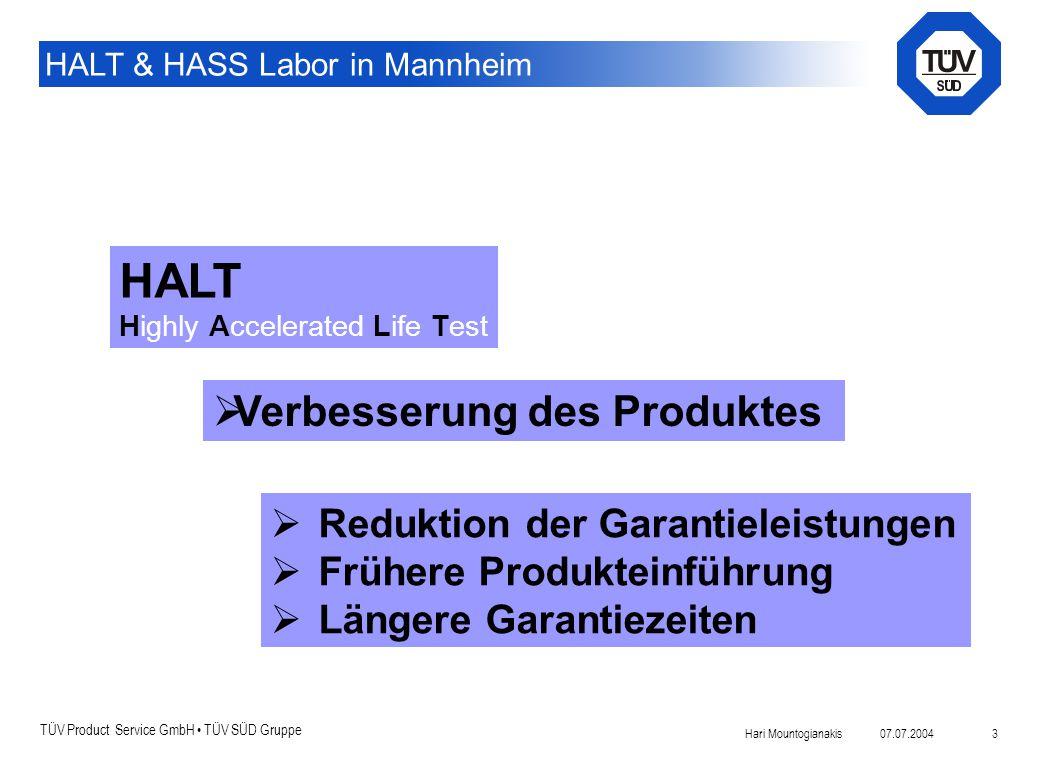Einführung: HALT Verbesserung des Produktes