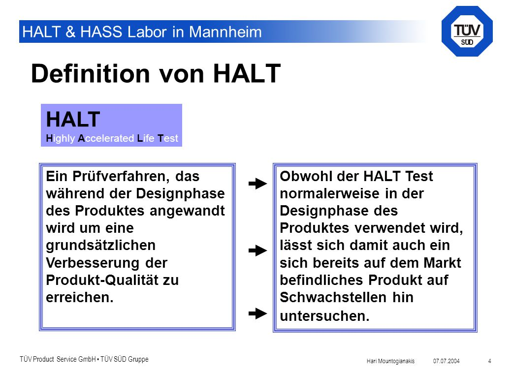 Definition von HALT HALT