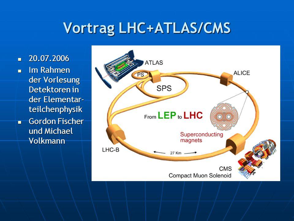 Vortrag LHC+ATLAS/CMS