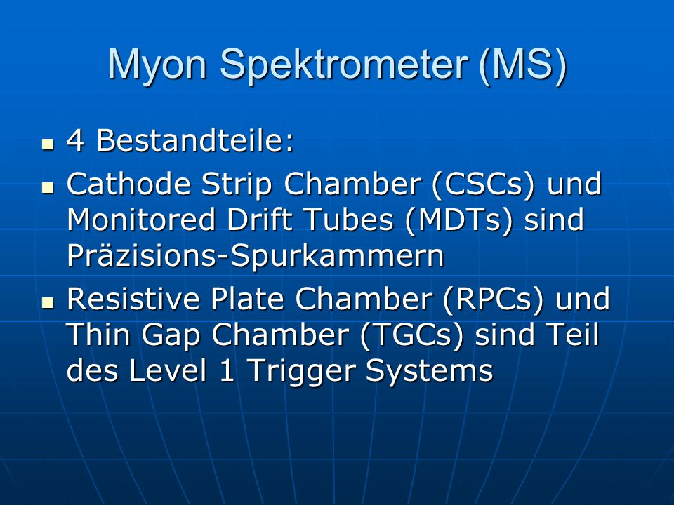 Myon Spektrometer (MS)