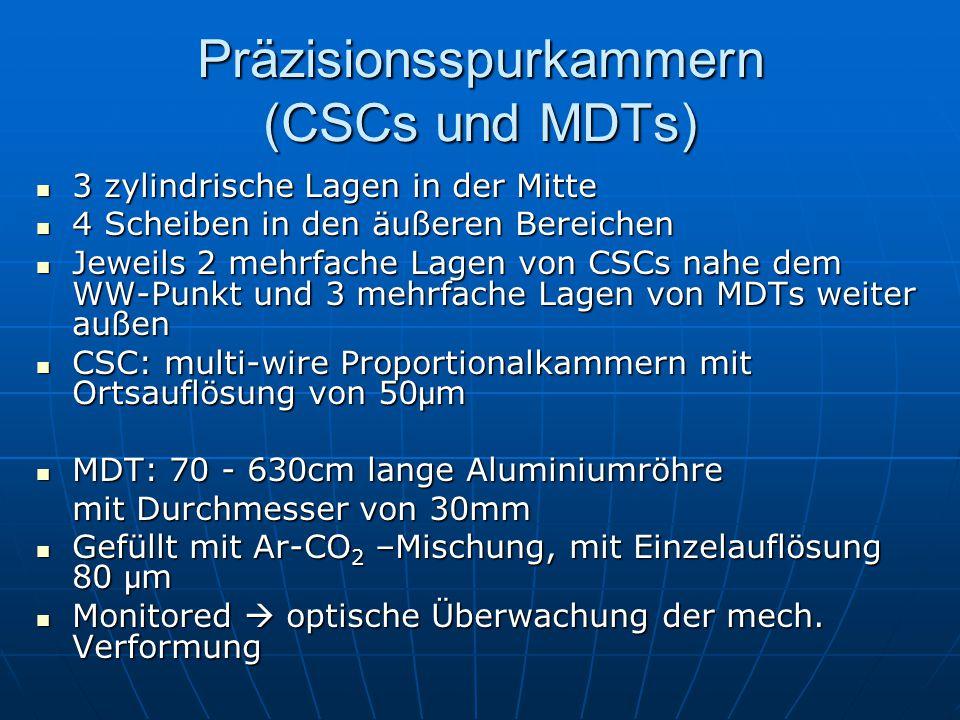 Präzisionsspurkammern (CSCs und MDTs)