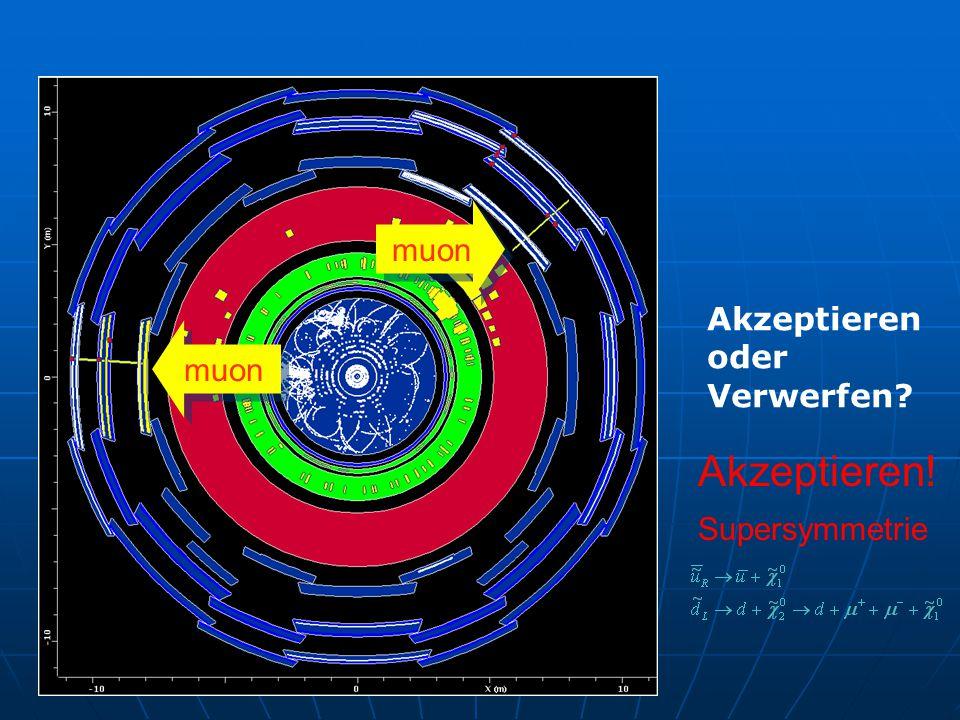 muon Akzeptieren oder Verwerfen Akzeptieren! Supersymmetrie