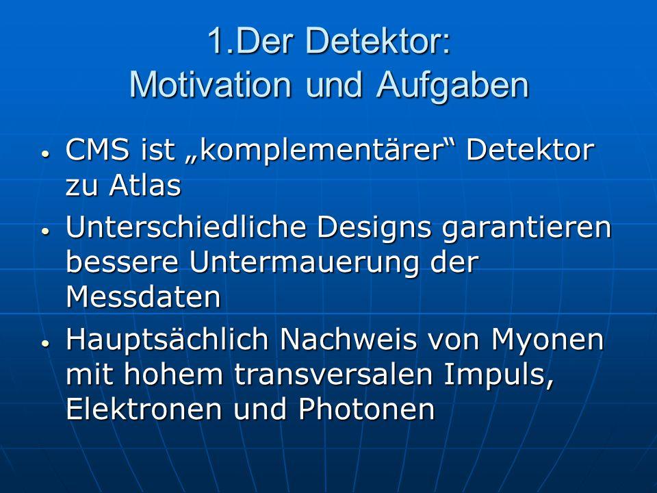 1.Der Detektor: Motivation und Aufgaben