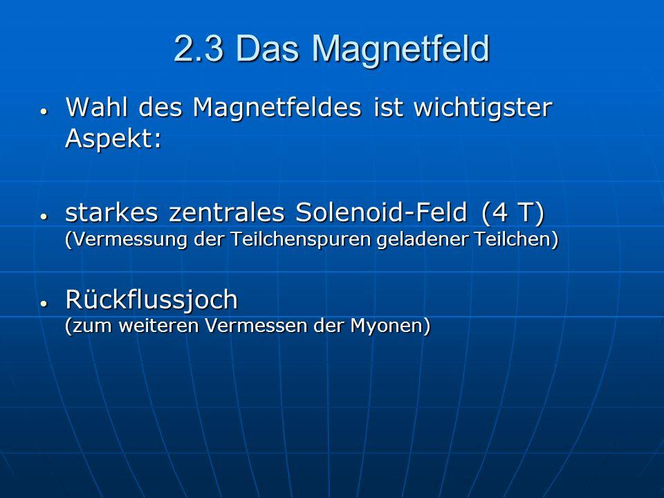 2.3 Das Magnetfeld Wahl des Magnetfeldes ist wichtigster Aspekt: