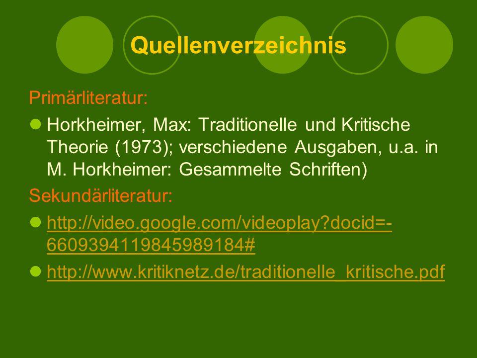Quellenverzeichnis Primärliteratur:
