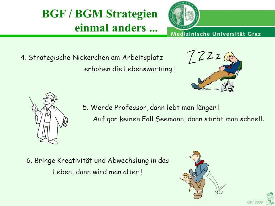 BGF / BGM Strategien einmal anders ...