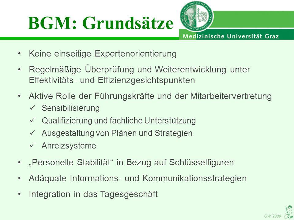 BGM: Grundsätze Keine einseitige Expertenorientierung