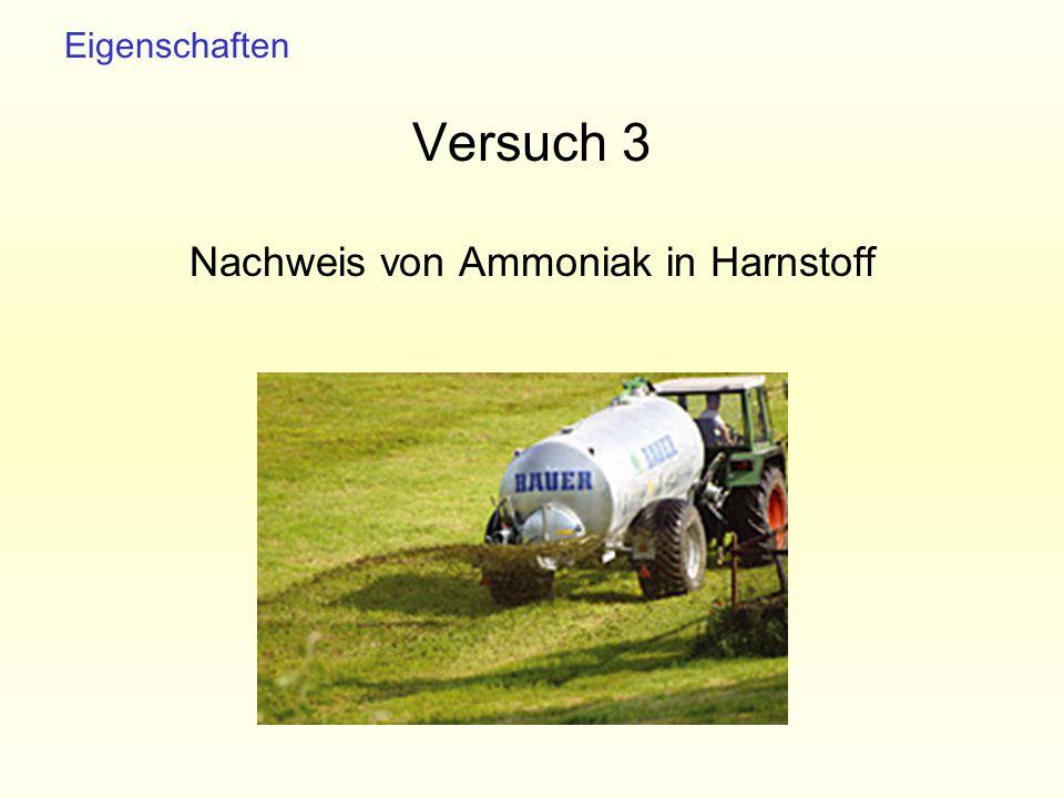 Nachweis von Ammoniak in Harnstoff