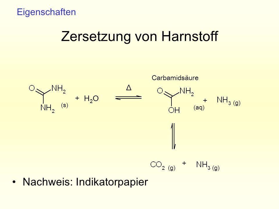 Zersetzung von Harnstoff
