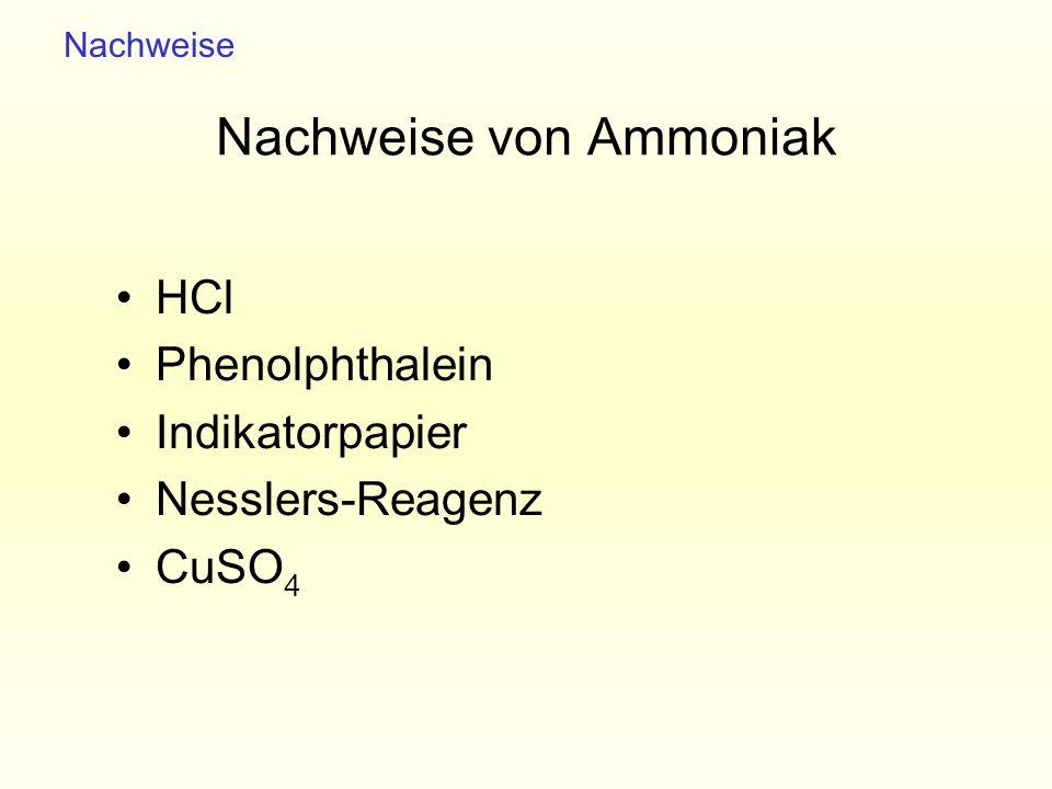 Nachweise von Ammoniak
