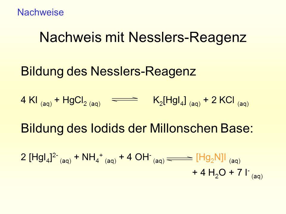 Nachweis mit Nesslers-Reagenz