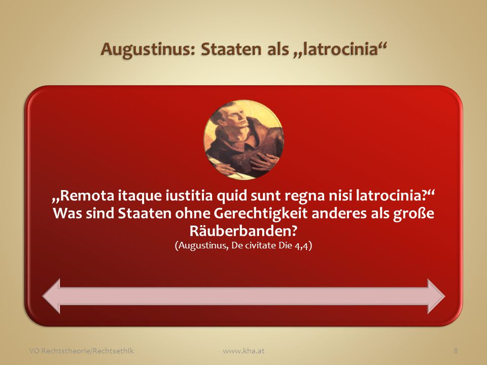 """Augustinus: Staaten als """"latrocinia"""